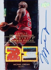 2009-10 Exquisite Collection Number Pieces Michael Jordan