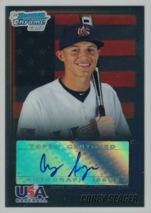 2010 Bowman Chrome Draft USA Baseball Autographs Corey Seager