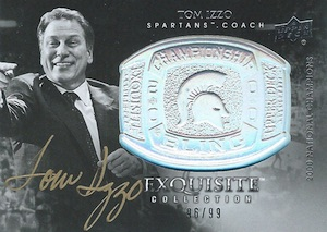 2011-12 Exquisite Collection Championship Bling Autographs Tom Izzo