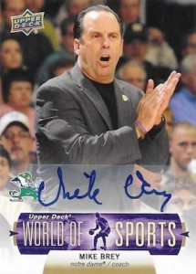 2011 UD World of Sports Autographs Mike Brey #69