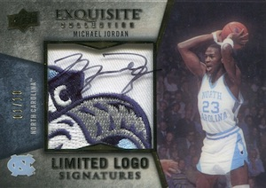 2012-13 Exquisite Collection Limited Logos Michael Jordan 1