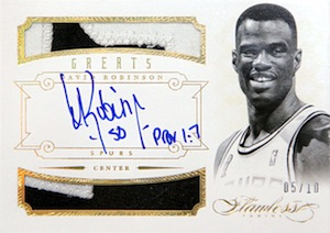 2012-13 Flawless Greats Dual Patch Autograph David Robinson