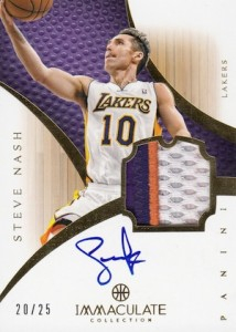 2012-13 Immaculate Autographed Patch Steve Nash