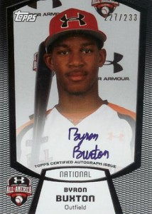 2012 Bowman Draft Under Armour Autographs Byron Buxton