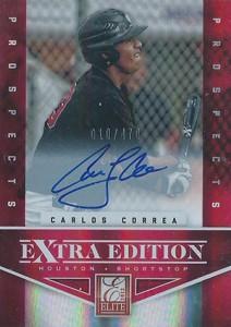 2012 Panini Elite Extra Edition Carlos Correa Autograph