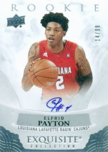 2013-14 Exquisite Collection 2014-15 Rookie Autographs Elfrid Payton