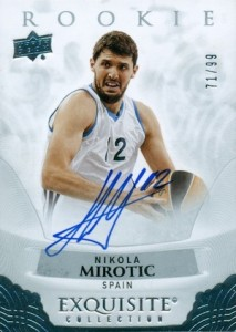 2013-14 Exquisite Collection 2014-15 Rookie Autographs Nikola Mirotic