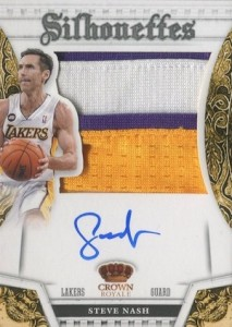 2013-14 Panini Preferred Silhouettes Prime Steve Nash #353 Autographed Patch