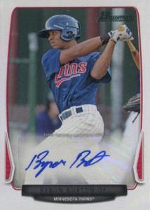 2013 Bowman Prospect Autograph Byron Buxton