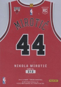 2014-15 Threads Nikola Mirotic RC team threads die-cut