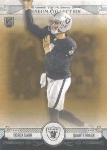 Derek Carr Rookie Card Gallery and Checklist 26