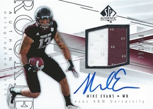 2014 SP Authentic Mike Evans #230 Autographed Jersey