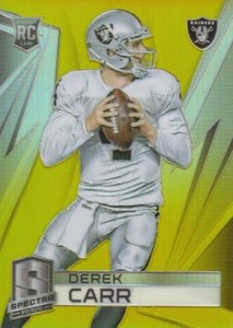 Derek Carr Rookie Card Gallery and Checklist 17