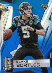 2014 Spectra Die-Cut Blue Parallel RC Blake Bortles #157