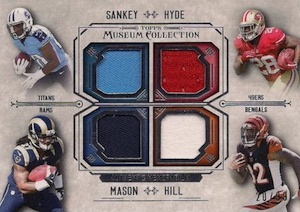 2014 Topps Museum Collection Football Four Player Quad Relics