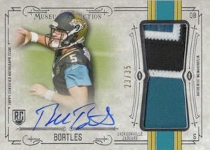 2014 Topps Museum Collection Football Jumbo Patch Autographs Blake Bortles