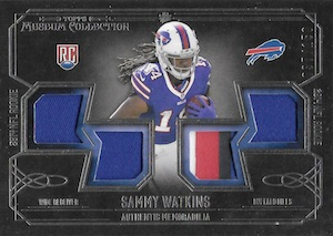 2014 Topps Museum Collection Football Rookie Quad Relics Sammy Watkins