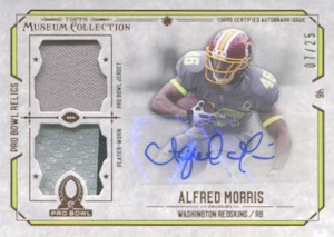2014 Topps Museum Collection Football Signature Swatches Autographed Dual Relic Pro Bowl