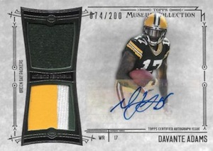 2014 Topps Museum Collection Football Signature Swatches Autographed Dual Relic