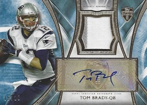 2014 Topps Supreme Football Autographed Patches Tom Brady