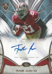 2014 Topps Supreme Football Autographs Frank Gore