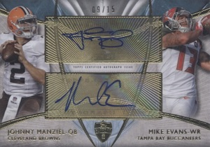 2014 Topps Supreme Football Dual Autographs Manziel Mike Evans