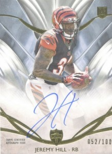 2014 Topps Supreme Football Rookie Autographs Jeremy Hill