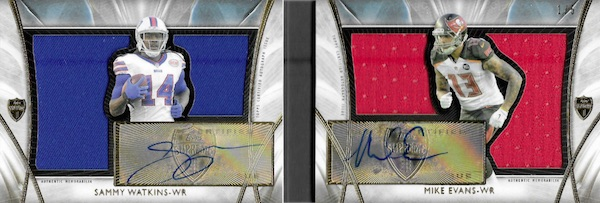 2014 Topps Supreme Football Rookie Dual Autograph Die-Cut Relic Books