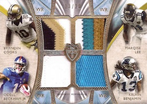 2014 Topps Supreme Football Rookie Quad Combo Patches