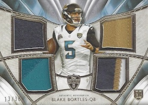 2014 Topps Supreme Football Rookie Quad Patches Bortles
