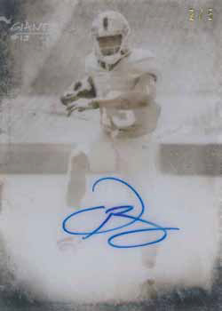2014 Topps Translucent Football Sepia Autograph
