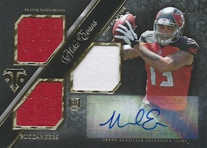2014 Topps Triple Threads Mike Evans RC #119 Auto Jersey