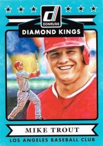 2015 Donruss Baseball Diamond Kings Trout