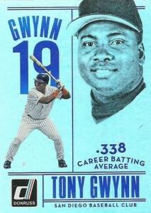 2015 Donruss Baseball Tony Gwynn Tribute