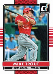 2015 Donruss Variations Mike Trout Reverse Photo