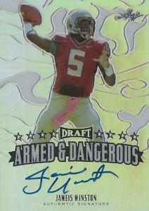 2015 Leaf Metal Draft Football Armed Dangerous Autograph Jameis Winston