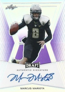 2015 Leaf Metal Draft Football Flashback Base Purpe Autograph Marcus Mariota