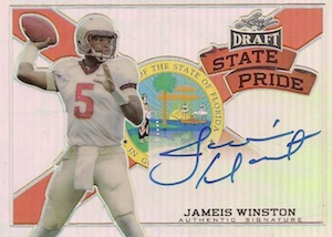 2015 Leaf Metal Draft Football State Pride Autographs Jameis Winston