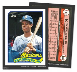 2015 Topps Cardboard Icons 1989 Topps Traded Ken Griffey Jr