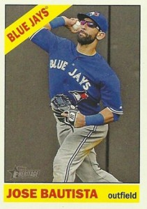 2015 Topps Heritage Action Photo 444 Jose Bautista