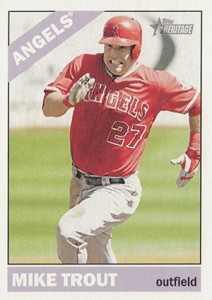 2015 Topps Heritage Action Photo 500 Mike Trout