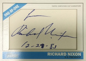 2015 Topps Heritage Baseball 1966 Celebrity Cut Signatures Richard Nixon