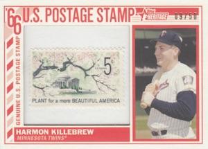 2015 Topps Heritage Baseball 1966 Topps U.S. Postage Stamp Relics
