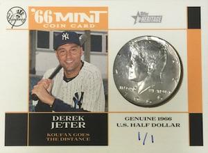 2015 Topps Heritage Baseball 66 Mint Derek Jeter
