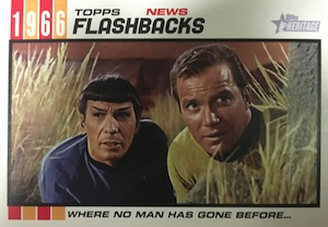2015 Topps Heritage Baseball News Flashbacks Star Trek
