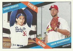 2015 Topps Heritage Baseball Then Now