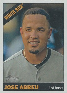 2015 Topps Heritage Color Swap 25 Jose Abreu