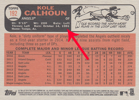 2015 Topps Heritage Baseball Variations Guide 31
