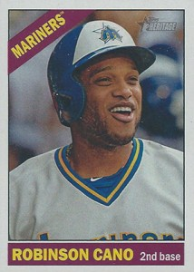 2015 Topps Heritage Throwback Variation 442 Robinson Cano