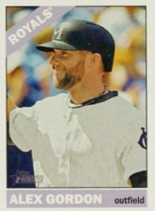 2015 Topps Heritage Throwback Variation Alex Gordon